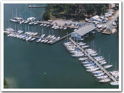 Chesapeake Bay Marina aerial view