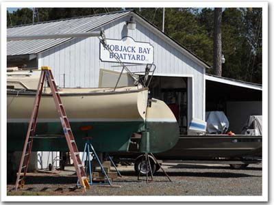 Boatyard maintenance facility on the Chesapeake Bay